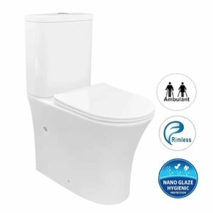 NEWCASTLE TOILET SUITE – Back to Wall Rimless Toilet