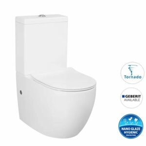 VOGHERA TORNADO TOILET SUITE – Wall Toilet with R&T Cistern