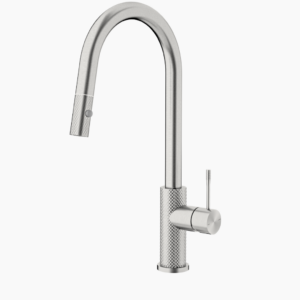 NERO Opal Pull Out Sink Mixer – Brushed Nickel