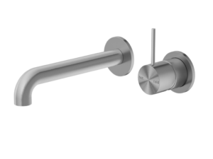 NERO Mecca Wall Basin Mixer Handle Up Separate Back Plate
