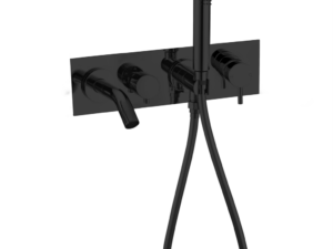 NERO Mecca Wall Mounted Bath Mixer With Hand Shower