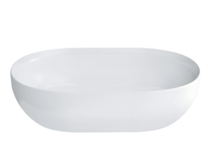 Byron ClearStone Gloss Basin with Matching Stone Waste