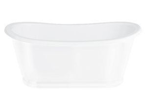 Bathazar ClearStone Gloss Bath White Stainless Steel Outer