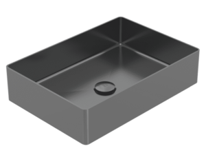 Rectangle 304 Stainless Steel Basin Black Pearl