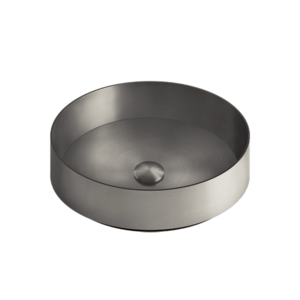316 Counter Washbasin in Stainless Steel – Black-metal-brushed