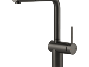 Inedito Pull Out Kitchen Mixer – Black-metal-brushed