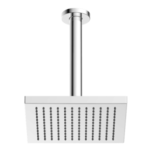 ABS 200mm Square Shower Head with 200mm Ceiling Dropper