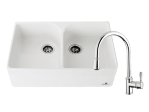 Chambord Clotaire Double Sink & 400674 Kitchen Mixer in Chrome